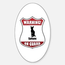 Sphynx On Guard Oval Decal