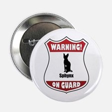 """Sphynx On Guard 2.25"""" Button"""