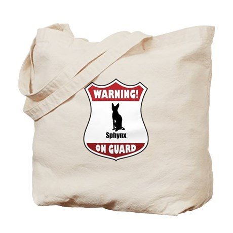 Sphynx On Guard Tote Bag