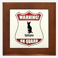 Sphynx On Guard Framed Tile
