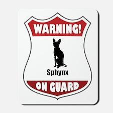 Sphynx On Guard Mousepad