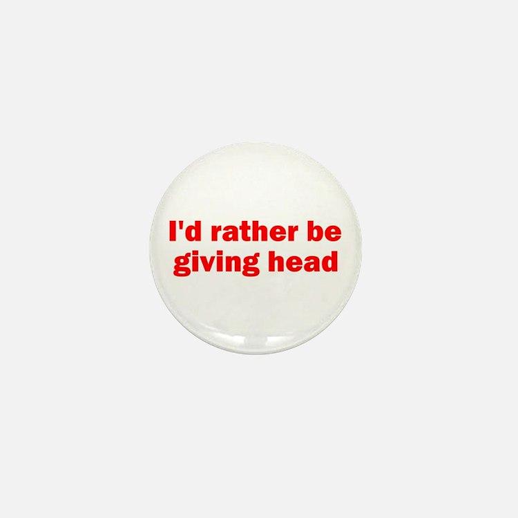 Giving Head Mini Button