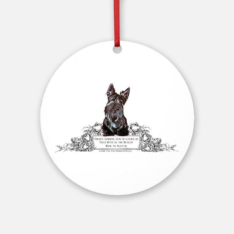 Scottish Terrier Friend Ornament (Round)