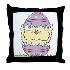 Easter Chick and Egg Throw Pillow