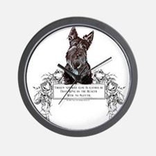 Scottish Terrier Friend Wall Clock