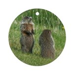 Standing Groundhogs Ornament (Round)