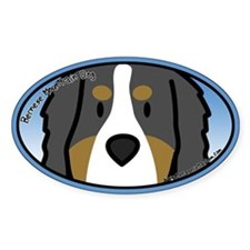 Anime Bernese Mountain Dog Oval Decal