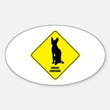Sphynx Crossing Oval Decal