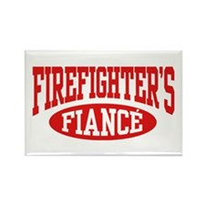 Firefighter's Fiance Rectangle Magnet