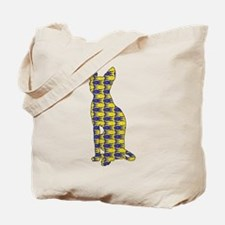 Sphynx with Fishes Tote Bag