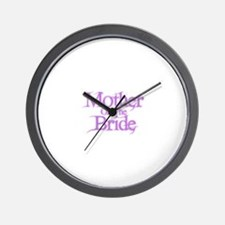 Mother Of The Bride - Pink Fa Wall Clock