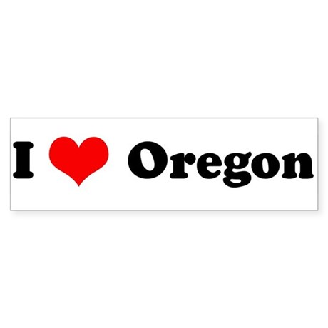 I Love Oregon - Bumper Sticker