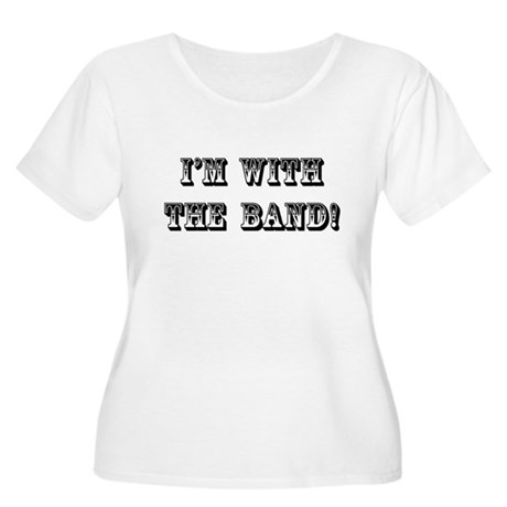 With The Band Women's Plus Size Scoop Neck T-Shirt