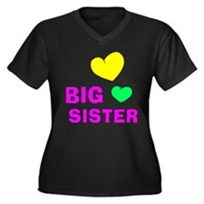 Big Sister Women's Plus Size V-Neck Dark T-Shirt