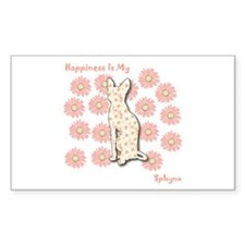 Sphynx Happiness Rectangle Decal