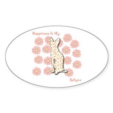 Sphynx Happiness Oval Decal