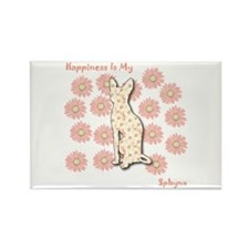 Sphynx Happiness Rectangle Magnet