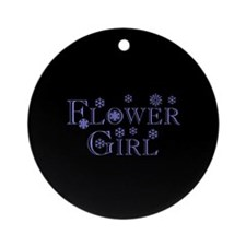 Flower Girl - Snowflakes Ornament (Round)