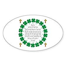Irish Prayer Blessing Oval Decal