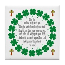 Irish Prayer Blessing Tile Coaster