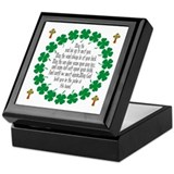 Irish blessing Square Keepsake Boxes