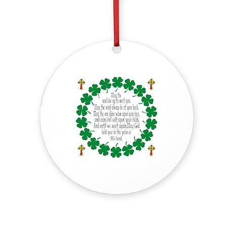 Irish Prayer Blessing Ornament (Round)