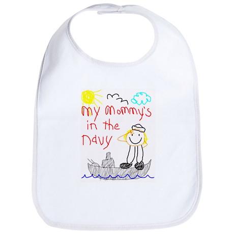 Navy Mommy Bib