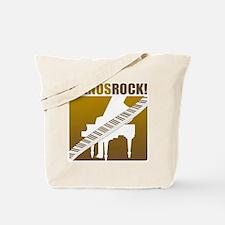 Pianos Rock! Tote Bag