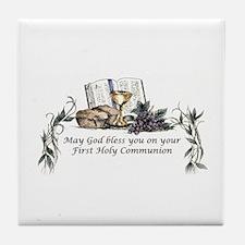 1st Communion Tile Coaster