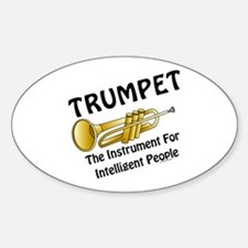 Trumpet Genius Oval Decal