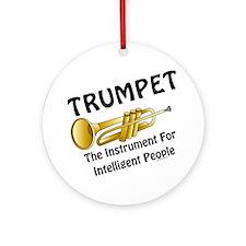 Trumpet Genius Ornament (Round)
