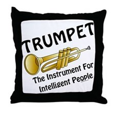 Trumpet Genius Throw Pillow
