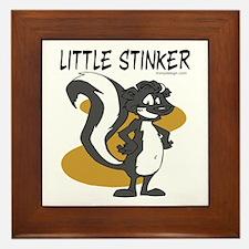 Little Stinker Framed Tile Picture