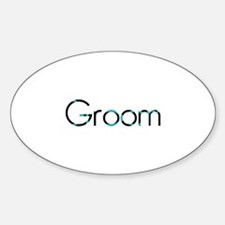 Groom - Retro GB Oval Decal