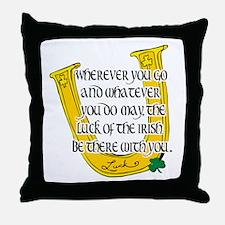 Irish Luck Blessing Throw Pillow