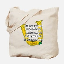 Irish Luck Blessing Tote Bag