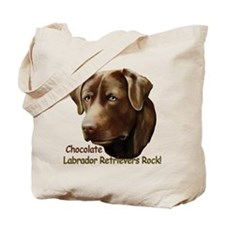 Chocolate Labs Rock Tote Bag