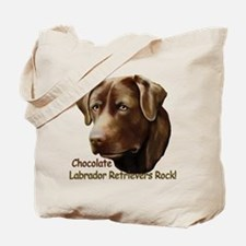 Chocolate Labs Rock Tote Bag