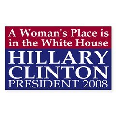 A Woman's Place... (bumper sticker)