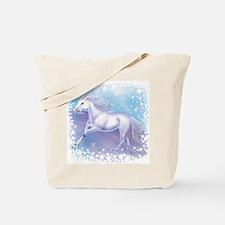 Unicorn Over The Rainbow Tote Bag