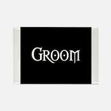 Groom - Gothic Morph Rectangle Magnet