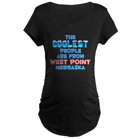 Coolest: West Point, NE Maternity Dark T-Shirt