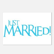 Just Married - Event Blue Postcards (Package of 8)