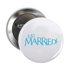 """Just Married - Event Blue 2.25"""" Button"""