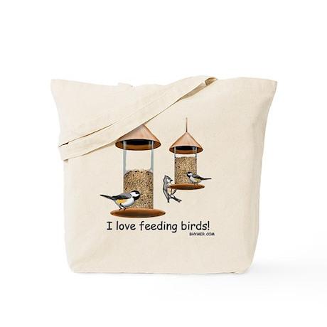 Bird/Squirrel Feeder War Tote Bag