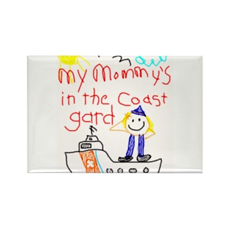 """Coast Guard Mommy"" Series Rectangle Magnet (10 pa"