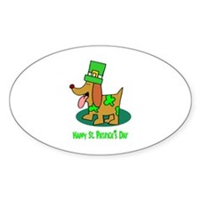 St Patrick's Dog Oval Decal