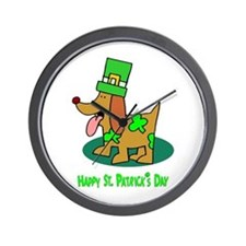 St Patrick's Dog Wall Clock