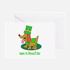 St Patrick's Dog Greeting Card