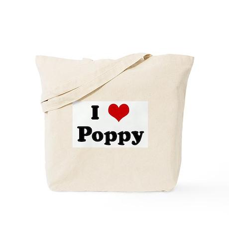 I Love Poppy Tote Bag